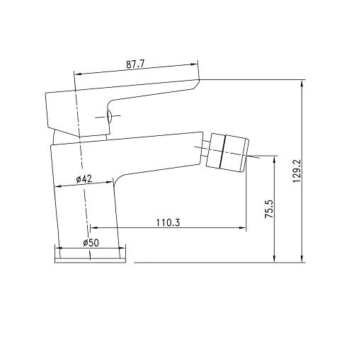 BRECLAV смеситель для биде, хром, 35мм 40245 Imprese