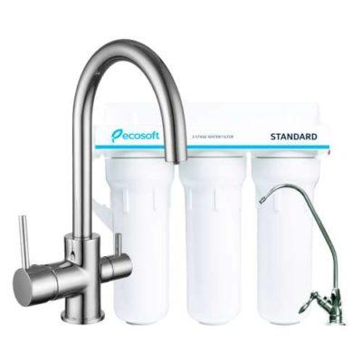 Комплект: DAICY-U смеситель для кухни, Ecosoft Standart система очистки воды (3х ступенчатая) 55009-U+FMV3ECOSTD Imprese