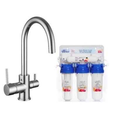 Смеситель кухонный с системой очистки воды и подключением к фильтру IMPRESE DAICY 55009S-F+RO5 12.WFU-N