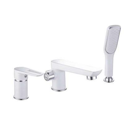BRECLAV смеситель для ванны, врезной, на три отверстия, хром/белый Imprese 85245W