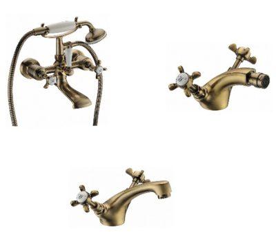 Набор смесителей для ванны IMPRESE Cuthna antiqua 10280antiqua+05280antiqua+40280antiqua