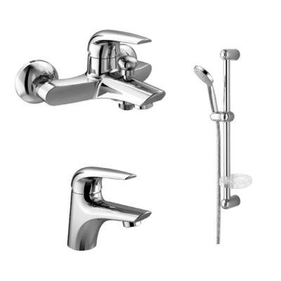 Набор смесителей для ванны IMPRESE KRINICE 10110+05110+5810001