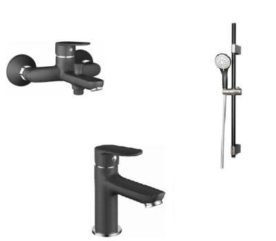 Набор смесителей для ванны IMPRESE Laska cerna 10040B+05040(35)B+7810003B