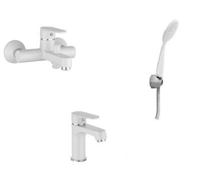 Набор смесителей для ванны IMPRESE Lesna bila 10070W+05070W+S1101001