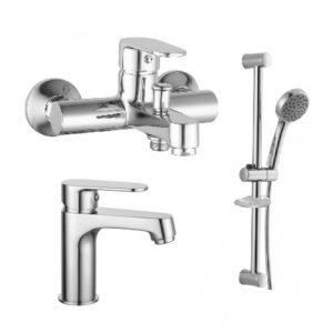 Набор смесителей для ванны IMPRESE Lesna 05070+10070+R670SD
