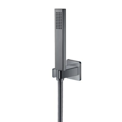 Набор душевой - ручной душ с шлангом и держателем ZMK041807100 GRAFIKY чёрный никель Imprese